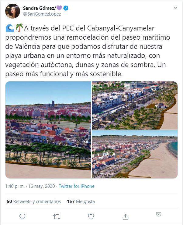 Nuevo Paseo marítimo de Valencia, barrio el Cabanyal